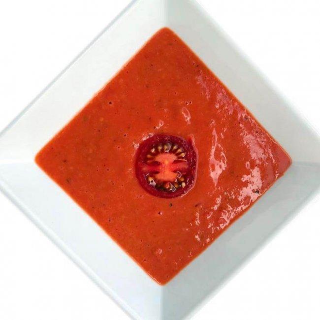 Studená polievka z pečených paradajok